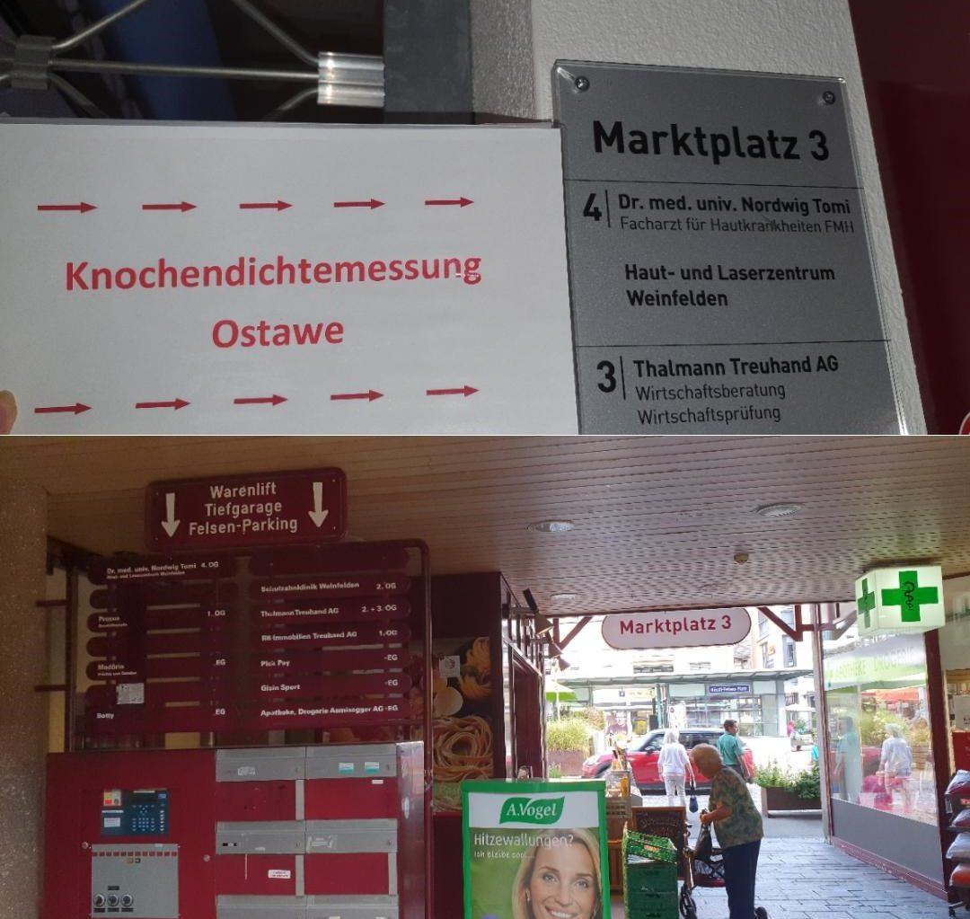 Eingang Osteoporosezentrum